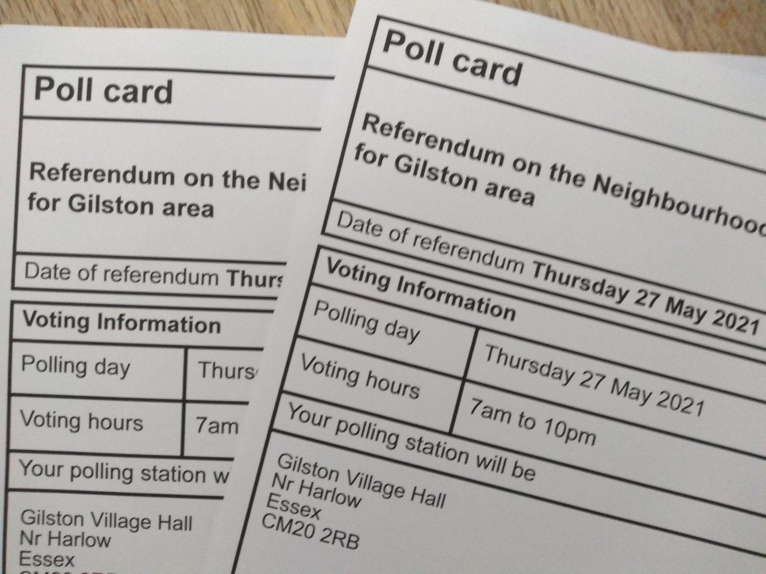 Neighbourhood Plan Poll Card