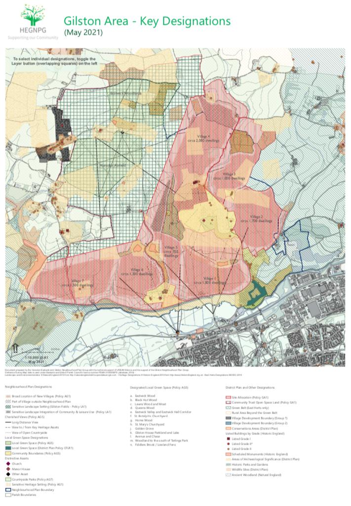 Gilston Area Neighbourhood Plan - May 2021 - Key Designations